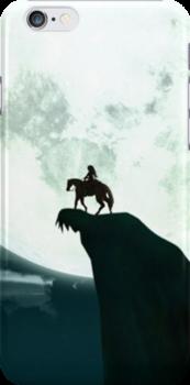 Zelda on a Clifftop Silhouette Design by TalkThatTalk
