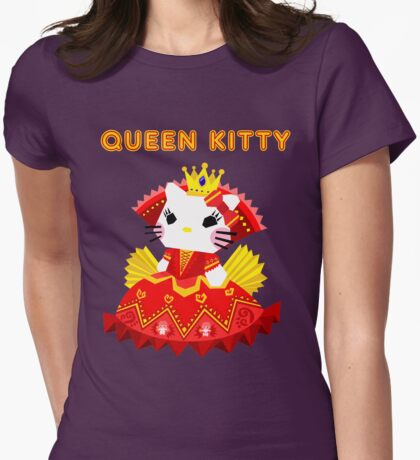Queen Kitty Womens Fitted T-Shirt