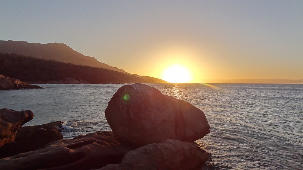 Rocky Sunset by Alistair Luckman