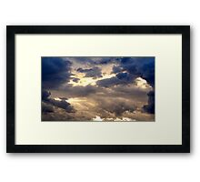 Sunlight Through The Clouds Framed Print