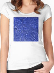 Mommy and her little one matching Blue Peacock QTees Women's Fitted Scoop T-Shirt