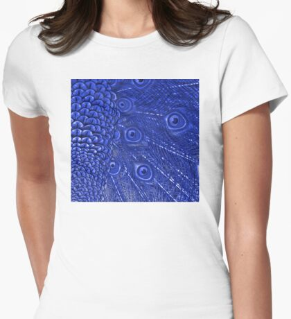 Mommy and her little one matching Blue Peacock QTees Womens Fitted T-Shirt