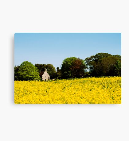 Saint Nicholas Church at Boarhunt Canvas Print