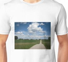 country lane with cumulus Unisex T-Shirt