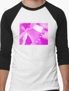 Pink Daffodil Men's Baseball ¾ T-Shirt