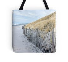 Beach day in late autumn Tote Bag