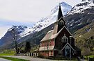 The new church at Olden, Norway by David Carton