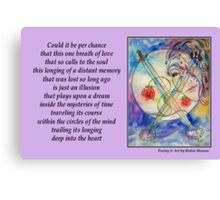 Poetry in Art - Embrace the Mystery Canvas Print