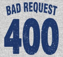 Team shirt - 400 Bad Request, blue letters Kids Clothes