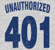 Team shirt - 401 Unauthorized, blue letters Baby Tee