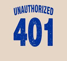 Team shirt - 401 Unauthorized, blue letters Unisex T-Shirt