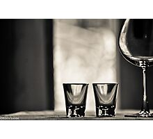 2 Shots, one red wine make your day...Got 14 Featured Works Photographic Print