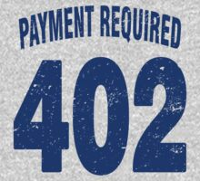 Team shirt - 402 Payment required, blue letters Kids Clothes