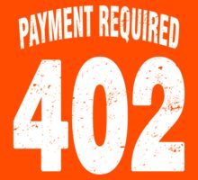 Team shirt - 402 Payment required, white letters Kids Tee