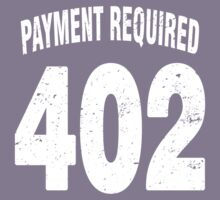 Team shirt - 402 Payment required, white letters Kids Clothes
