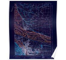 USGS Topo Map Oregon OR Portland 282798 1905 62500 Inverted Poster