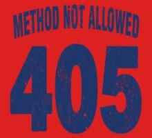 Team shirt - 405 Method Not Allowed, blue letters Kids Tee