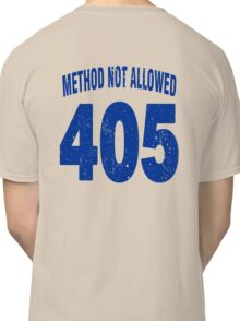 Team shirt - 405 Method Not Allowed, blue letters Classic T-Shirt