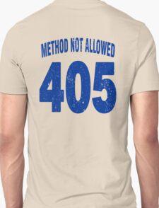 Team shirt - 405 Method Not Allowed, blue letters T-Shirt