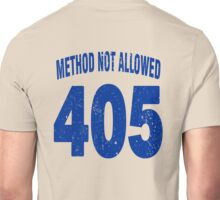 Team shirt - 405 Method Not Allowed, blue letters Unisex T-Shirt