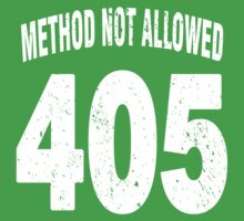 Team shirt - 405 Method Not Allowed, white letters Baby Tee