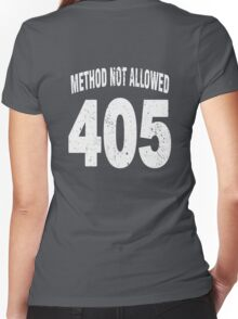 Team shirt - 405 Method Not Allowed, white letters Women's Fitted V-Neck T-Shirt