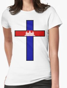 Olympic Countries - Cambodia Womens Fitted T-Shirt