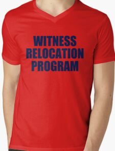 WITNESS RELOCATION PROGRAM TEE AS SEEN ON FOO FIGHTERS DAVE GROHL Mens V-Neck T-Shirt