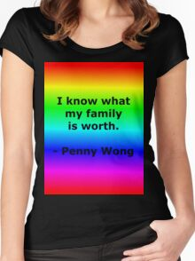 Penny Wong's Family Women's Fitted Scoop T-Shirt