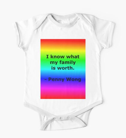 Penny Wong's Family One Piece - Short Sleeve