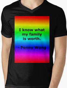 Penny Wong's Family Mens V-Neck T-Shirt