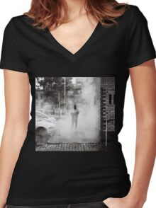 Street Menace Women's Fitted V-Neck T-Shirt