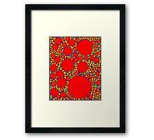 Random Tiling Red Framed Print