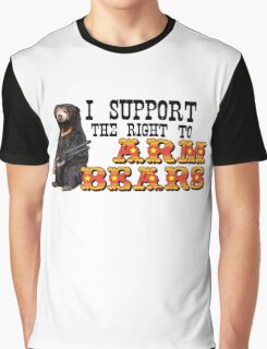 I Support the Right to Arm Bears, Sun Bears. Graphic T-Shirt