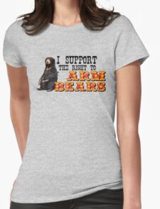 I Support the Right to Arm Bears, Sun Bears. Womens Fitted T-Shirt