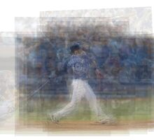 Jose Bautista Swing Bat Flip by Steve Socha