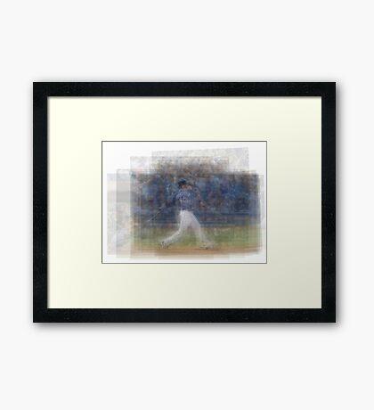 Jose Bautista Swing Bat Flip Framed Print