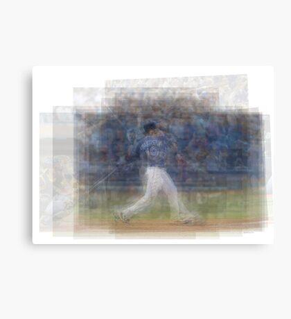 Jose Bautista Swing Bat Flip Canvas Print
