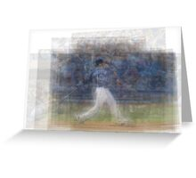 Jose Bautista Swing Bat Flip Greeting Card