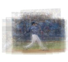 Jose Bautista Swing Bat Flip Photographic Print