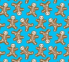 Skeleton Gingerbread Men Pattern by ArtVixen