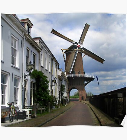 """Molen """"Rijn en Lek"""" ~ Wijk bij Duurstede Poster"""