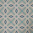 Tribal Star (tan, teal, and blue) by shawntking