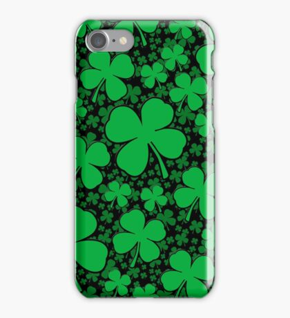 A Shamrock Field for St Patrick's Day iPhone Case/Skin