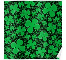 A Shamrock Field for St Patrick's Day Poster