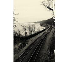 Train Tracks by the Hudson River Photographic Print