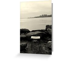 Sitting by Hudson River Greeting Card