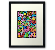 COLORS AND SHAPES 01 Framed Print
