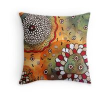 Watercolor and Doodles Throw Pillow