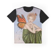Sunrise Monarch Butterfly Fairy Graphic T-Shirt